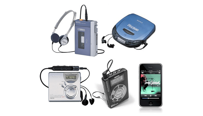 history of portable music,music history,music,history,facts,guide,reference,education,music players,mp3,cd,cassette,ipod,walkman,sony