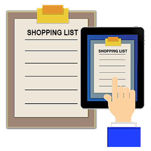 shopping list,buying list,christmas list